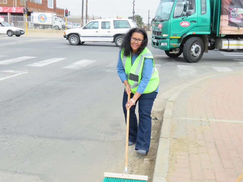 Cleaning Themba's streets