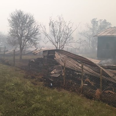 Minister visits Garden Route fires and victims