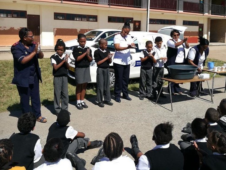 School health team spreads hygiene principles