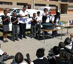School health team spreads hygiene principles