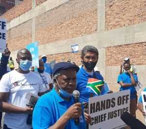 ACDP pickets at ConCourt in support of Mogoeng