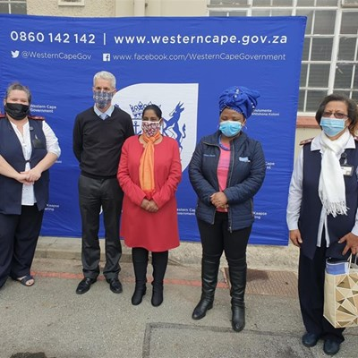 Health Minister Nomafrench Mbombo visits George
