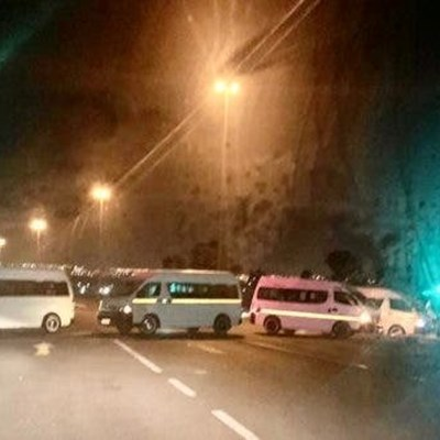 Early morning blockades as Gauteng taxi strike starts