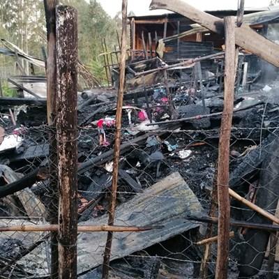 Twee gesinne dakloos na brand in Blanco