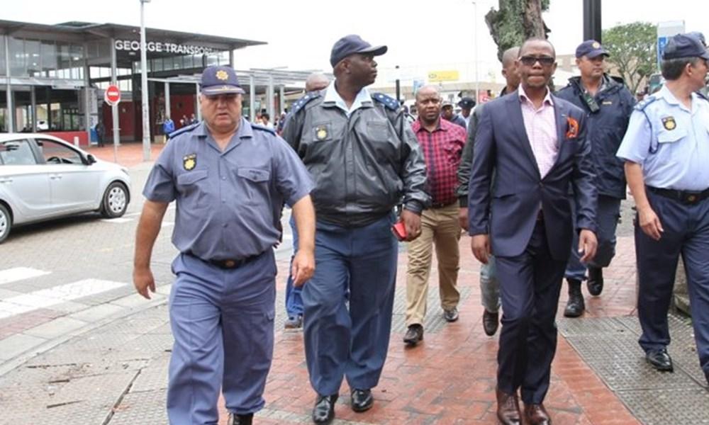 Deputy police minister visits George