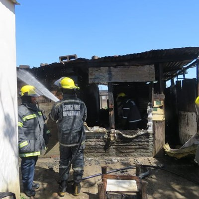 Shack fire in Thembalethu