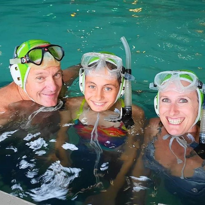 Underwater hockey back with a blast