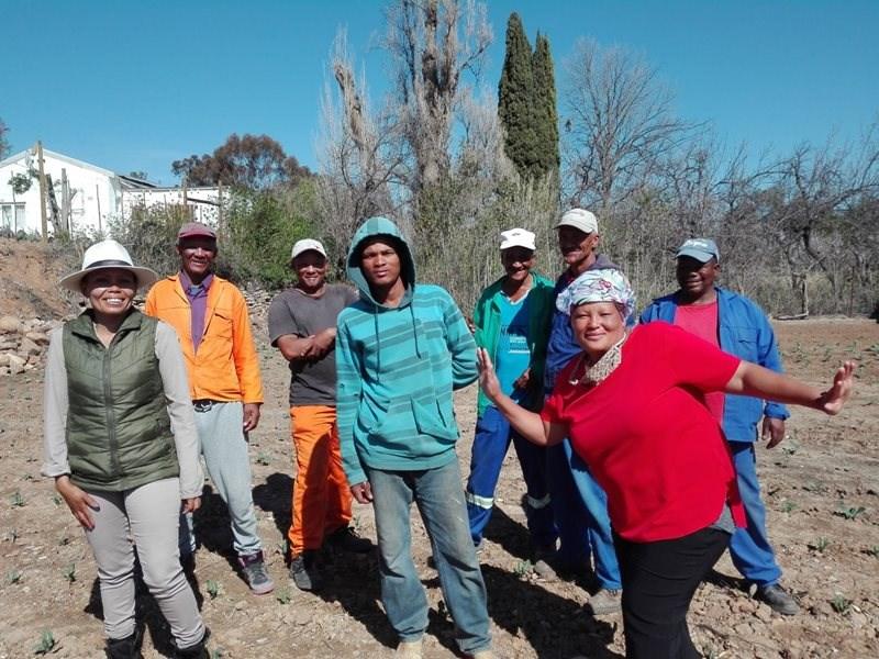 Werkloses begin landbouprojek