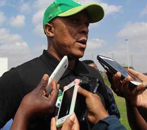PSL chairperson Dr Irvin 'Iron Duke' Khoza announces the death of legendary footballer Doctor Khumalo's mother