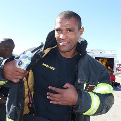 Firefighter teams lock horns in challenge