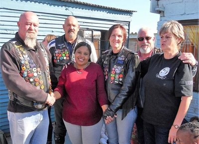 Ulysses Motorcycle Club Garden Route donate mattresses