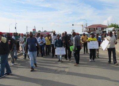 George Community Forum march from Thembalethu