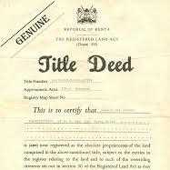 What is a title deed and who keeps it?