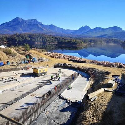 Update: Garden Route Dam spillway