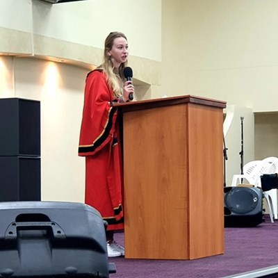 Junior mayor encourages peers in Youth Day speech