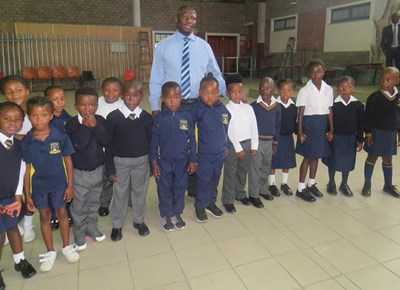My first day of school: Thembalethu Primary