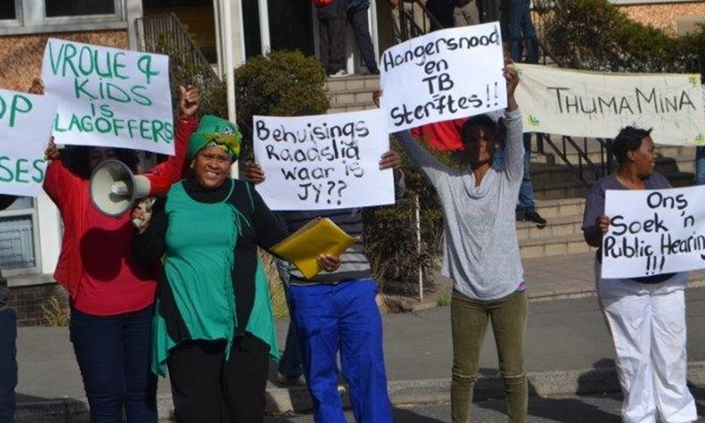 Plakkaatbetoging voor die Oudtshoorn-munisipaliteit