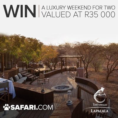 WIN a 2-night luxury getaway for 2 at Tinswalo Lapalala