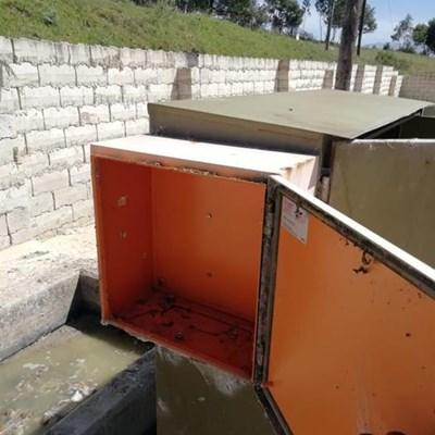 Pump station gutted, damage R400 000