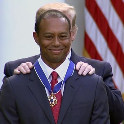 Trump awards Presidential Medal of Freedom to Tiger Woods