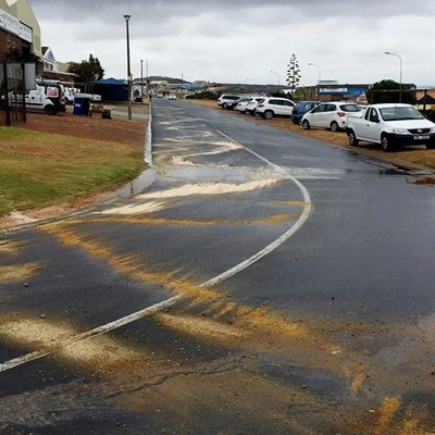 Diesel spill quickly cleaned