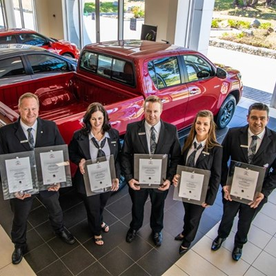 Halfway Toyota employees 'knighted'