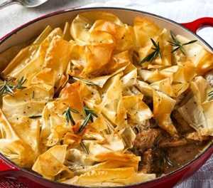 What's for dinner? Chicken and mushroom pie