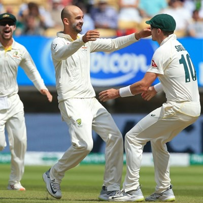 Lyon strikes as Australia press for victory in Ashes opener