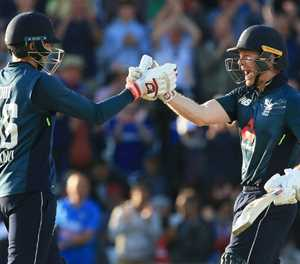 Morgan joy as Root back in the runs - but don't mention the 'mic drop'