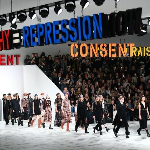 Dior cheers rebel women in 1970s-tinted Paris show