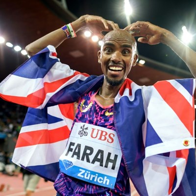 Mo Farah takes a break from running as he bids for TV crown