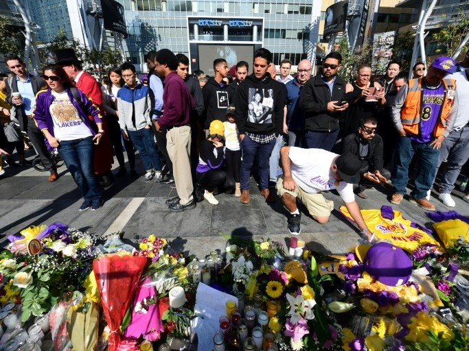 Kobe Bryant fans pay tribute to the late star