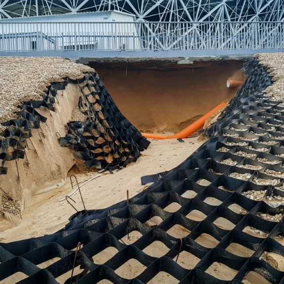 Flooding damages World Cup stadium in Russia's Volgograd