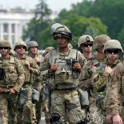 Washington troops hit with coronavirus after protests