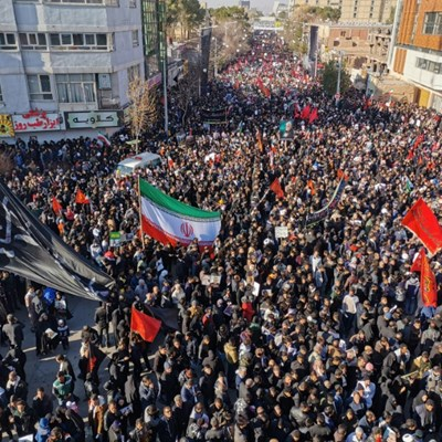 Iranians mass for burial in hometown of general killed by US