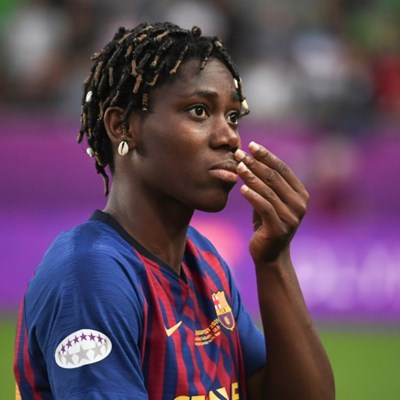Africa's star Oshoala gives Barcelona tenacious spark, wins over parents