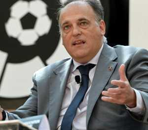 La Liga's Tebas 'very happy' with Premier League link