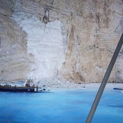 Landslide on Greek island beach injures three