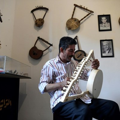 Ancient Pharaonic harp strums along to new tune
