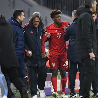 Coman's knee injury not as bad as feared say Bayern