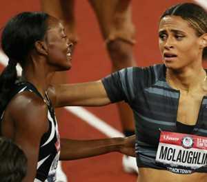 McLaughlin smashes 400m hurdles world record at US trials