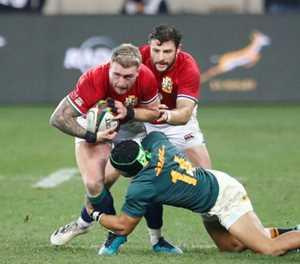 British and Irish Lions' Hogg denies biting Springbok Le Roux