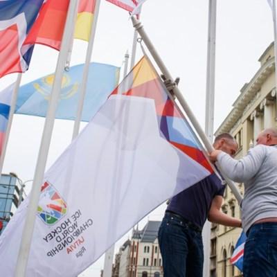 Latvia and hockey body spar over Belarus opposition flag