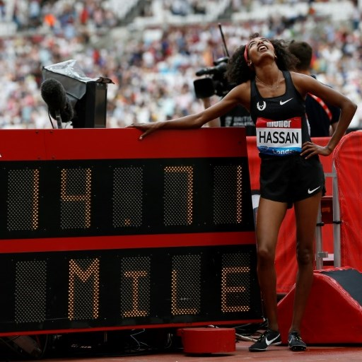 Hassan stunned with world lead mile in London