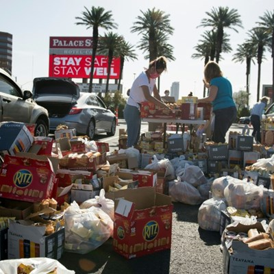 Casinos become food banks as Las Vegas workers wait out lockdown