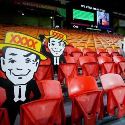 Fake cheers and cardboard spectators greet rugby league's return