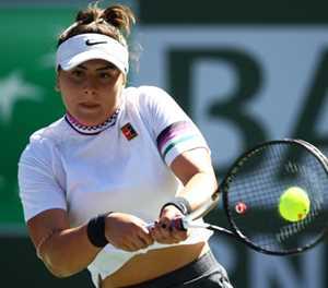 Aggressive Andreescu overwhelms Muguruza to reach Indian Wells semi-finals