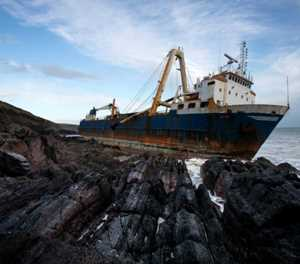 'Owner' makes claim to ghost ship grounded off Ireland