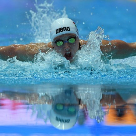 'Iron Lady' Hosszu swims to 60th gold medal
