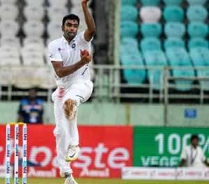 India's Ashwin joint fastest to 350 Test wickets